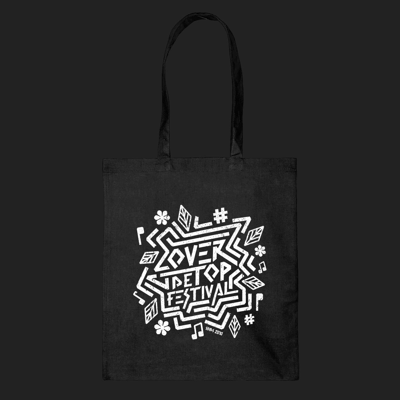 zwarte canvas festival tas